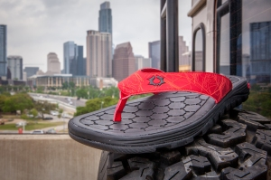 Tred Again Red Sandal - downtown austin