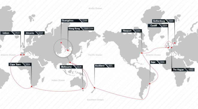 Volvo Ocean Race Map
