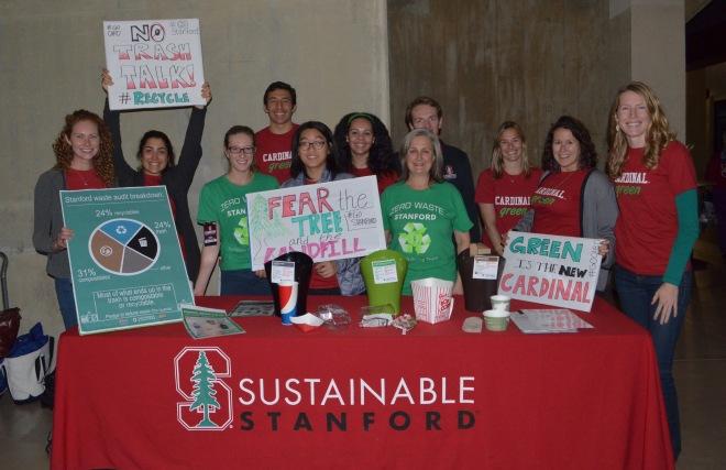 Stanford game day volunteers Sophie Cristel