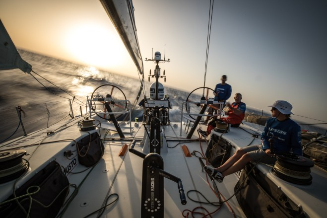 Leg 01, Alicante to Lisbon, day xx,  on board Vestas 11th Hour Racing. Photo by James Blake/Volvo Ocean Race. 27 October, 2017