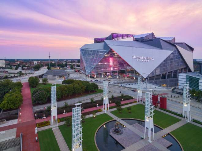 GSA Mercedes-Benz Stadium_dusk_8_30_17