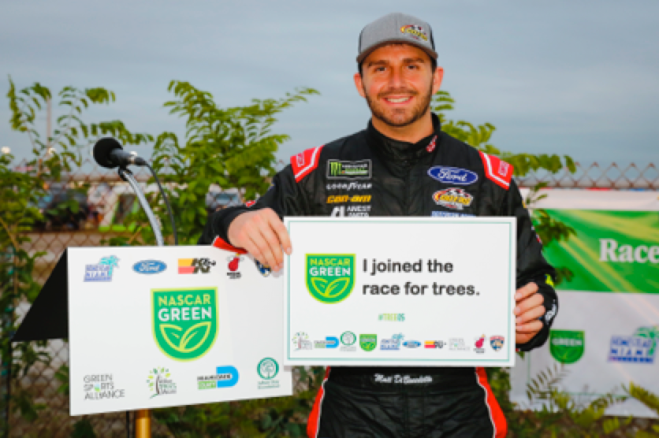 Monster Energy NASCAR Cup Series driver Matt DiBenidetto supporting our #RaceforTrees Campaign