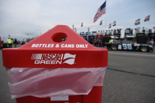 Recycling efforts at NASCAR races